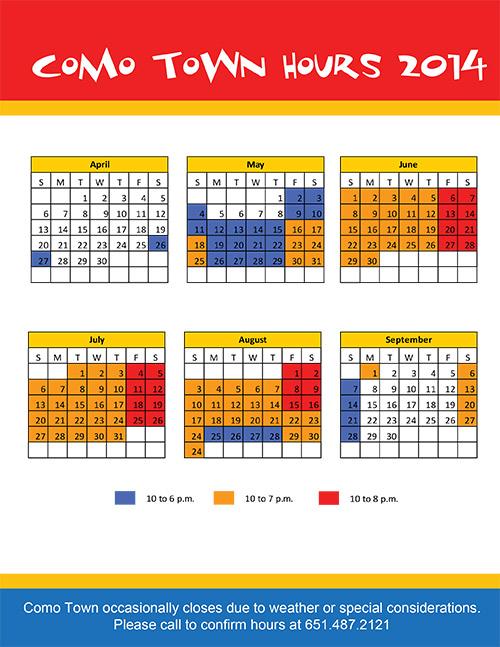 2014 Como Town Calendar