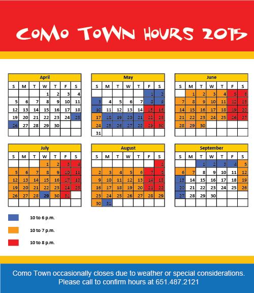 Como Town Hours 2015