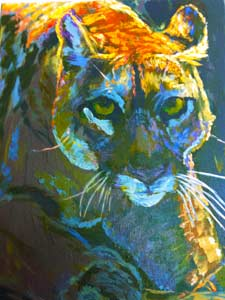 cougar-painting