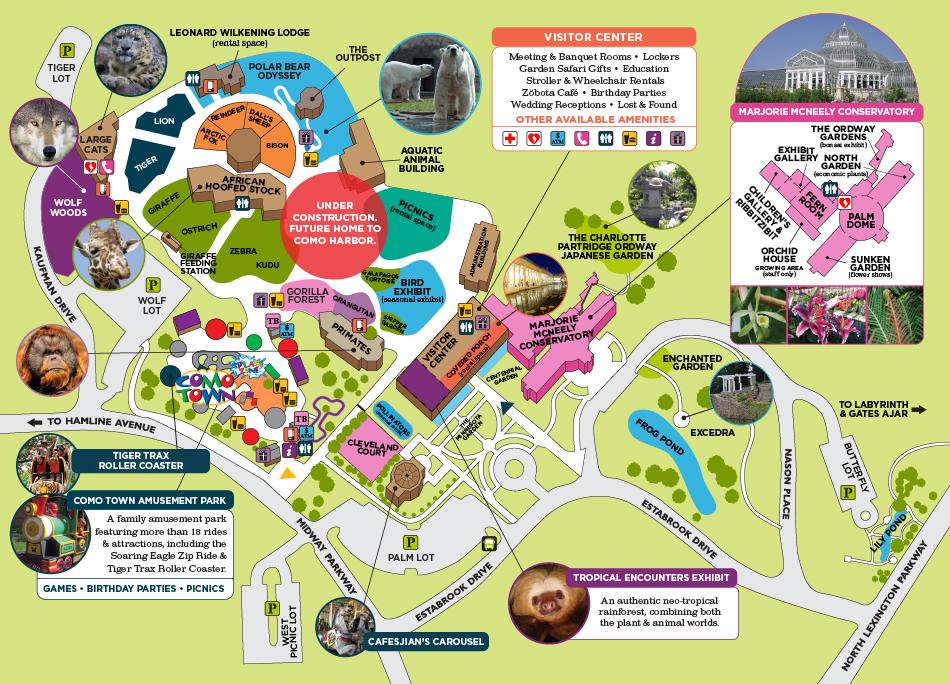 Como Zoo Map Plan Your Visit   Como Park Zoo and Conservatory Como Park Zoo and